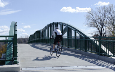 Bike-friendly Fitchburg WI bridge