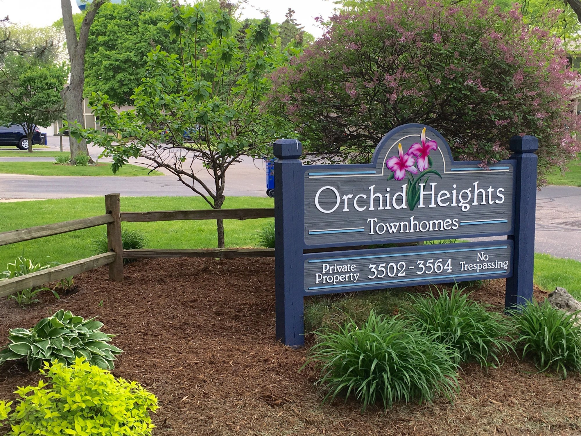 Orchid Heights Townhomes Sign
