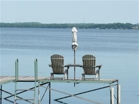 view of Lake Kegonsa from the dock of 2006 Barber Drive