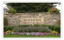 Blackhawk neighborhood sign