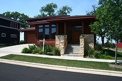 typical prairie style architecture found in Middleton Hills