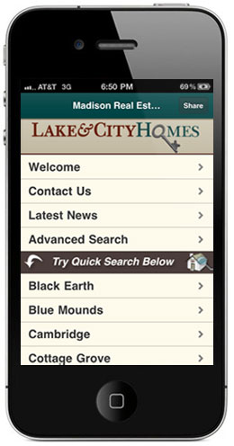 mobile app for madison real estate search