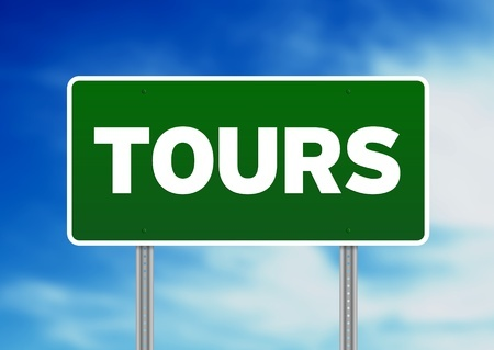 A sign that says tours