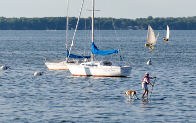 Lake Mendota boating activity
