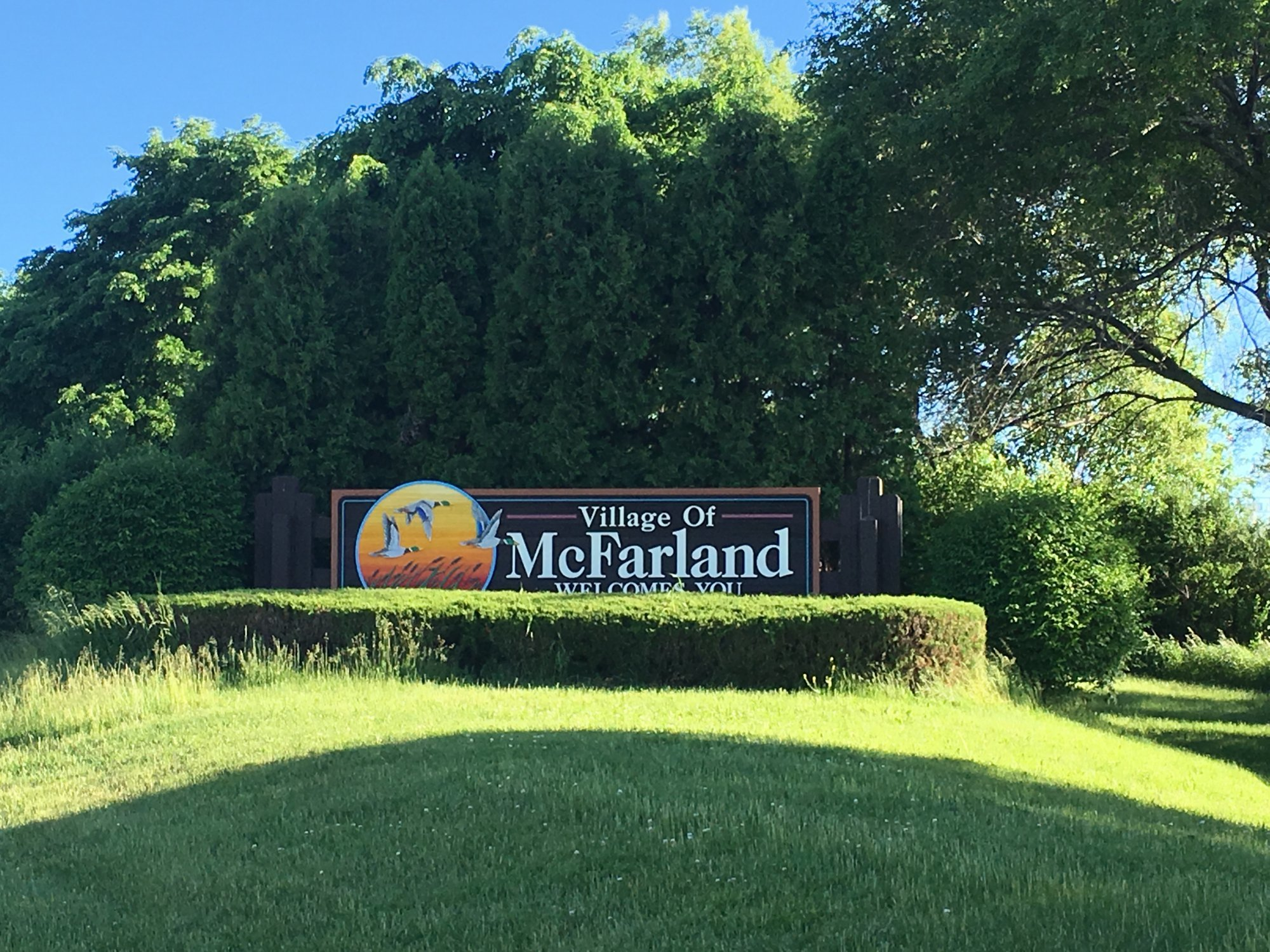 McFarland Wisconsin Sign