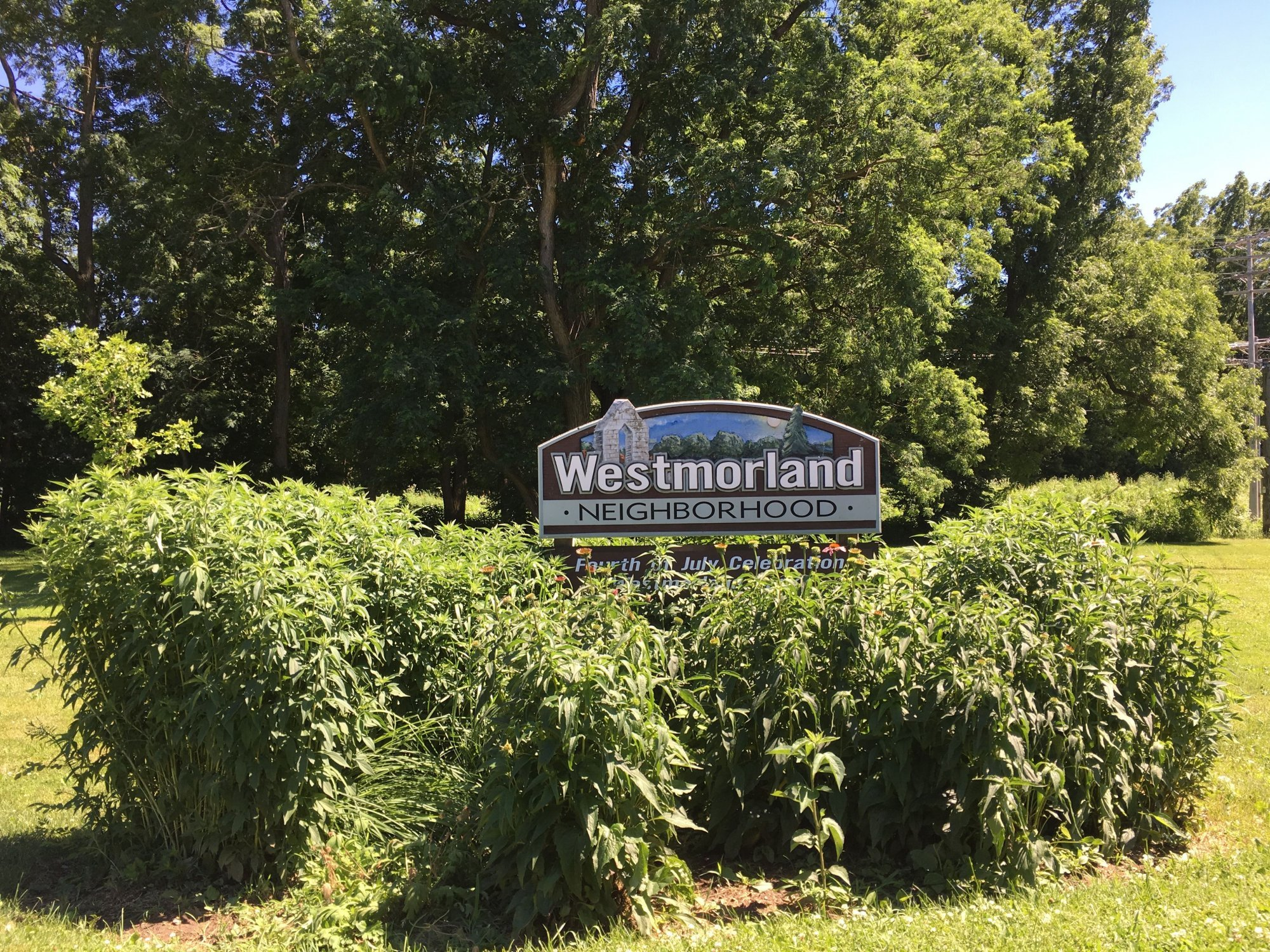 Westmorland Neighborhood Sign