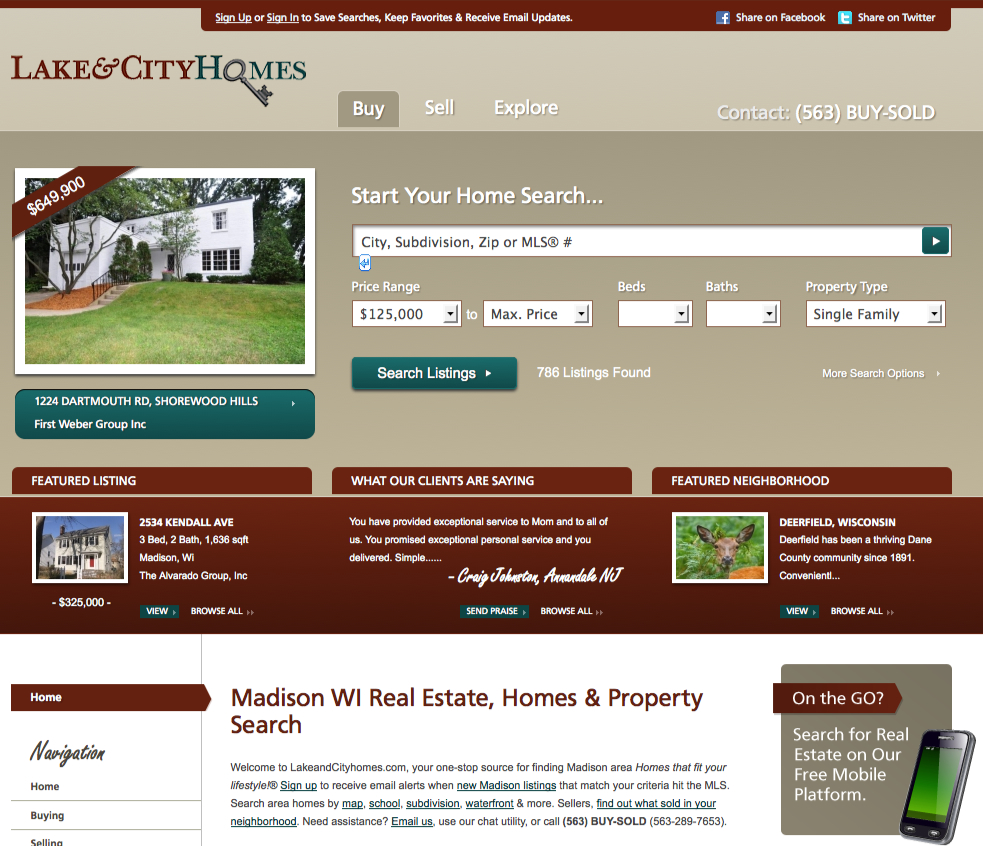 madison real estate website gets a new user interface