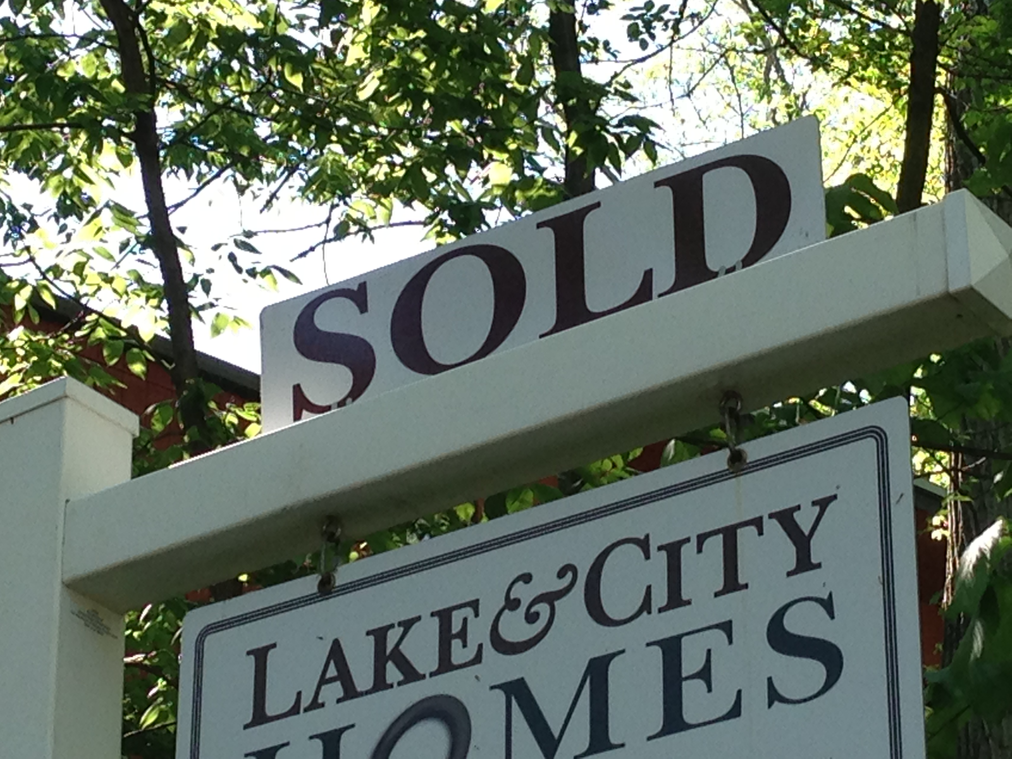 Lake & City Homes SOLD sign rider